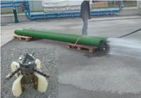 Čištění  potrubí vodní  řetězovou frézou
